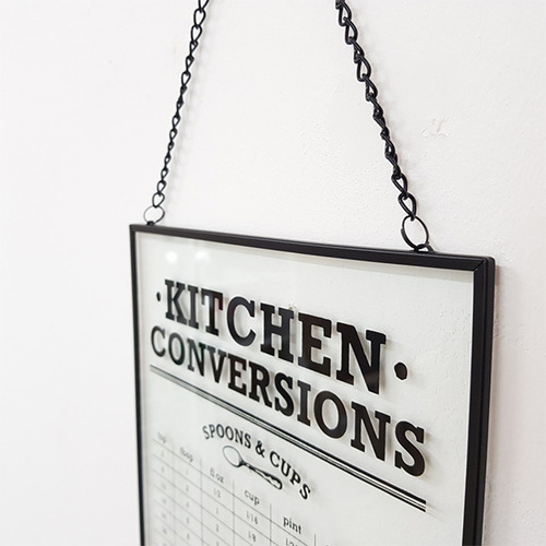 [MAGNET] KITCHEN CONVERSIONS 벽걸이 철제 유리액자