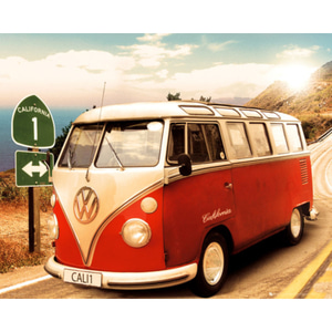 MP1212 VW CAMPER Route One (40x50cm)