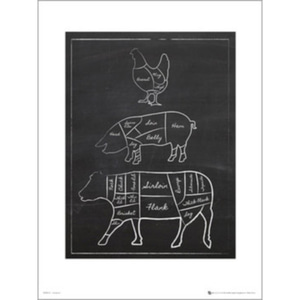 PDP00142 Butchers Cut Chalk Portrait(50x70cm)