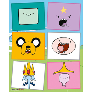 MP1844 ADVENTURE TIME Faces (40x50cm)