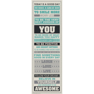160240 Laugh More Be Awesome (31x91cm)