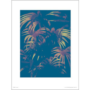 PDH01355 Leaves Blue (40x50)