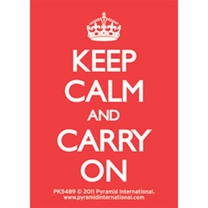PK5489 Keep Calm and Carry On (Red) 키링