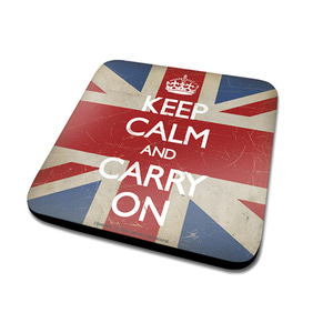 CS00044  Keep Calm - Union Jack 컵받침대